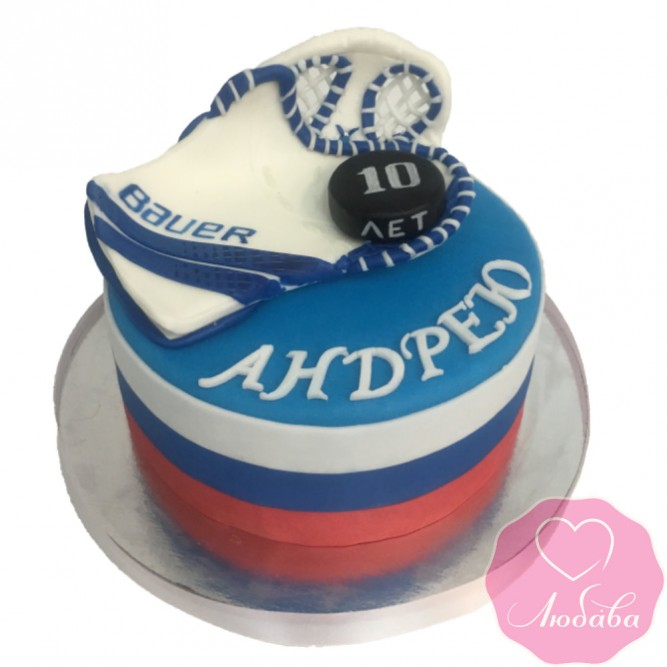 Торт на день рождения для хоккейного вратаря №2530