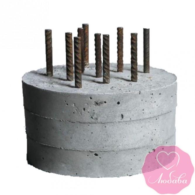 Торт на день рождения бетонный блок №2545