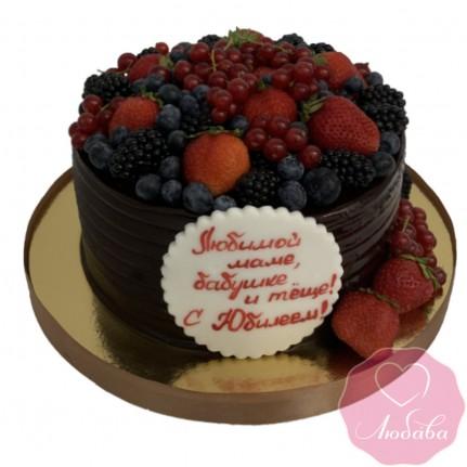 Торт на день рождения шоколадный №2553