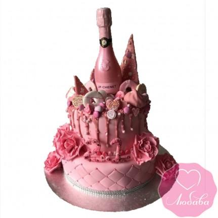 Торт на день рождения девушке 21 №2554