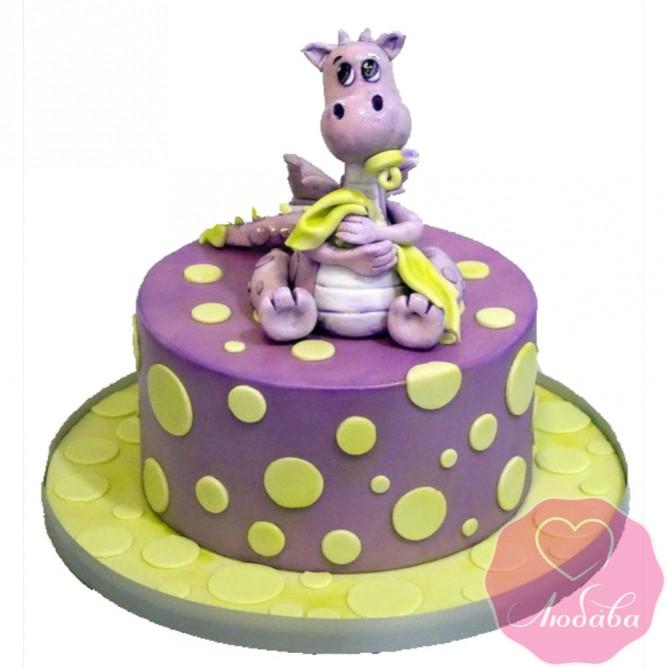 Торт детский с динозавриком №2555