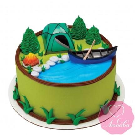 Торт на день рождения для туриста №2565