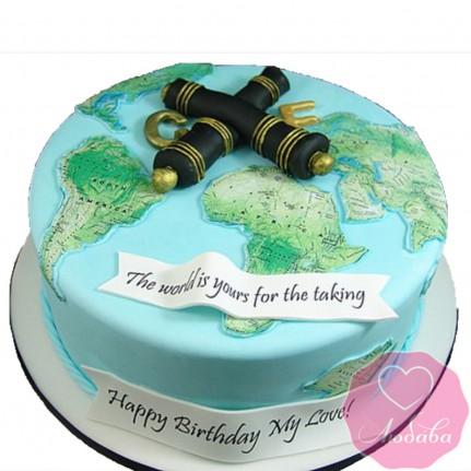 Торт на день рождения путешественнику №2634