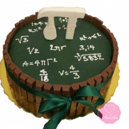 Торт на день рождения для математика №2663