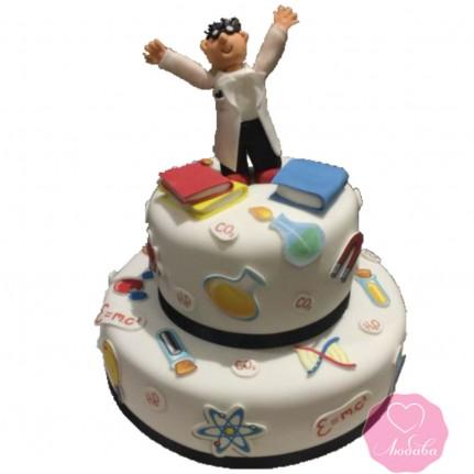 Торт на день рождения учителю №2668