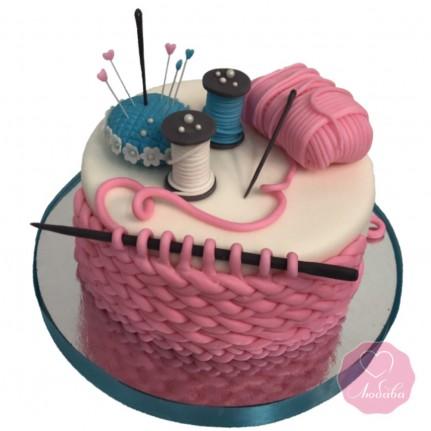 Торт на день рождения вязальщице №2673
