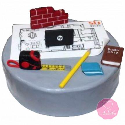 Торт на день рождения архитектору №2685