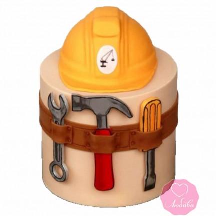 Торт на день рождения строителю №2690