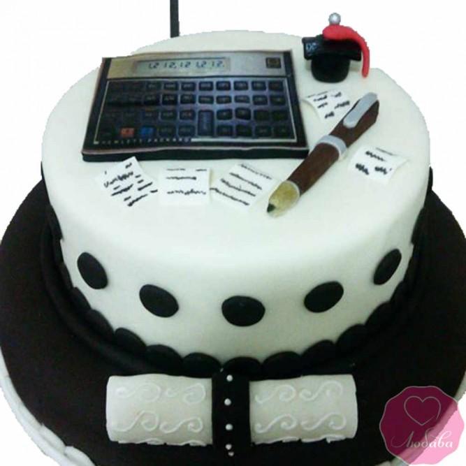 Торт на день рождения бухгалтеру №2696