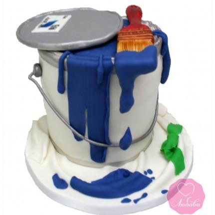 Торт на день рождения для маляра №2709