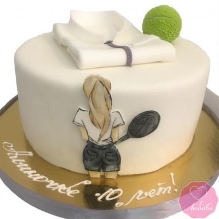 Торт на день рождения для теннисистки №2712