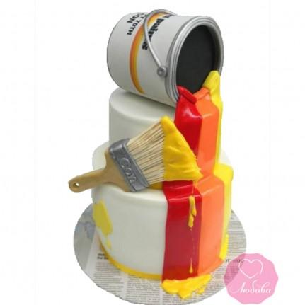 Торт на день рождения маляру №2714