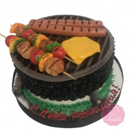 Торт на день рождения барбекю №2717