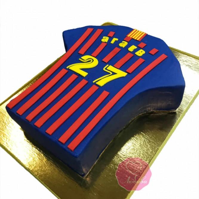 Торт на день рождения болельщику ФК Барселона №2737