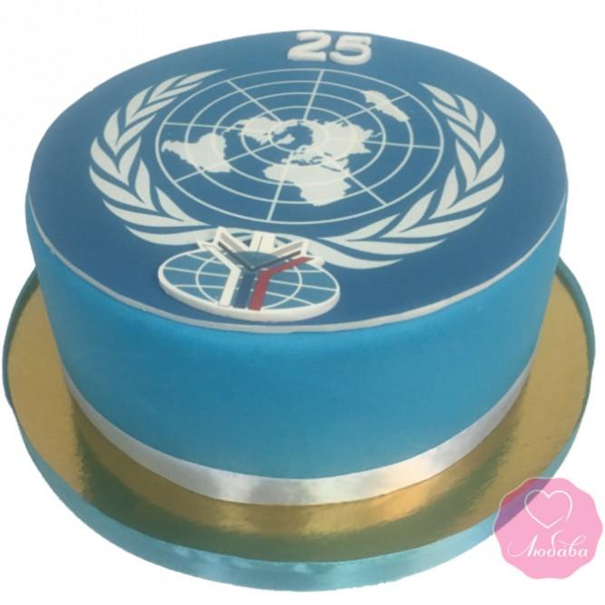 Торт на день рождения для дипломата №2747