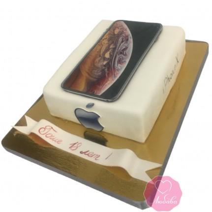 Торт на день рождения IPhone XS №2748