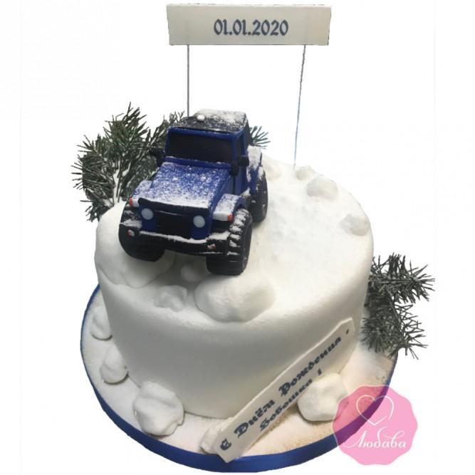Торт на день рождения внедорожник №2770
