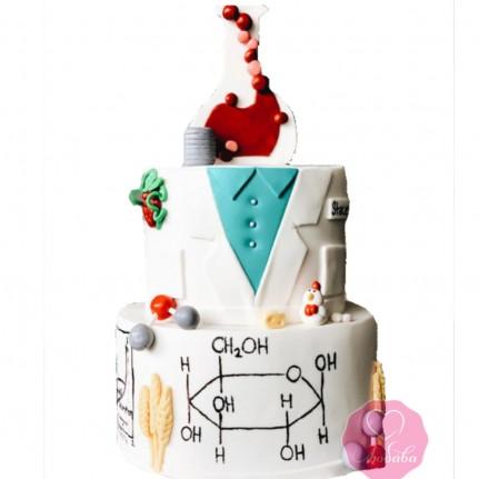 Торт на день рождения для химика №2774