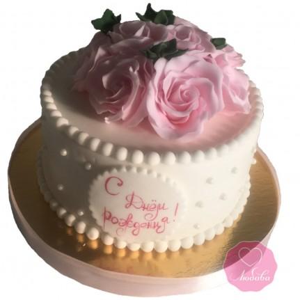 Торт с розами №2789
