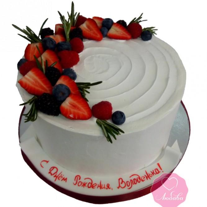 Торт со свежими ягодами №2802