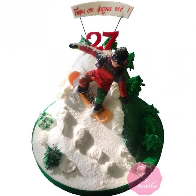 Торт сноуборд №2808