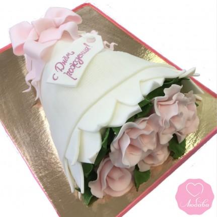 Торт букет роз №2822