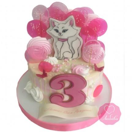 Торт с котиком для девочки №2832