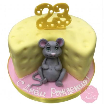 Торт с мышкой на день рождения №2840