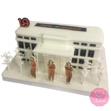Торт в виде дома №2843
