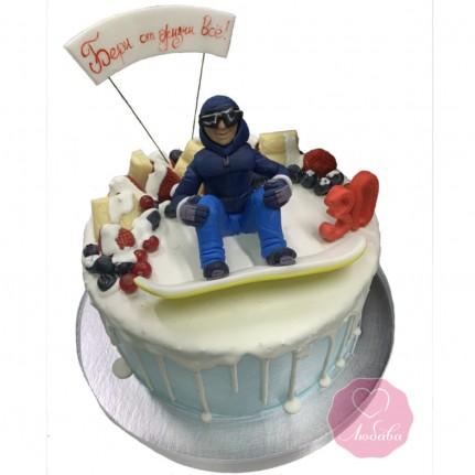 Торт сноубордисту №2845