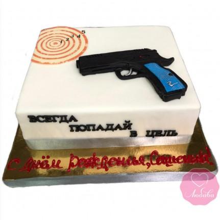 Торт с пистолетом №2851