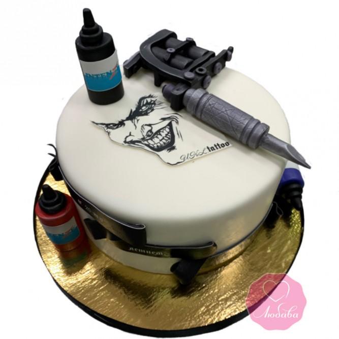 Торт тату мастеру №2873
