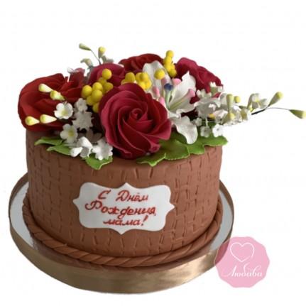 Торт для мамы на День Рождения №2878