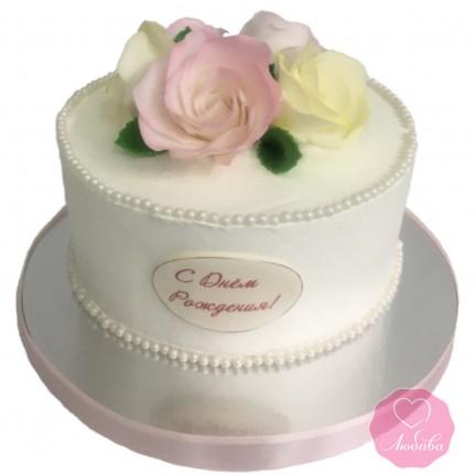 Торт с розами №2916