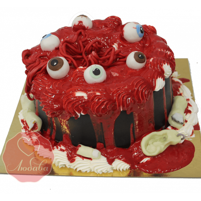 Торт на хэллоуин с глазами