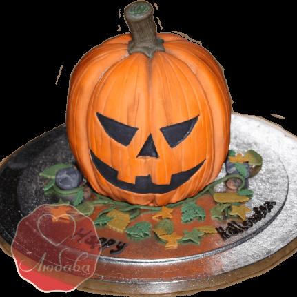 Торт тыква на хэллоуин