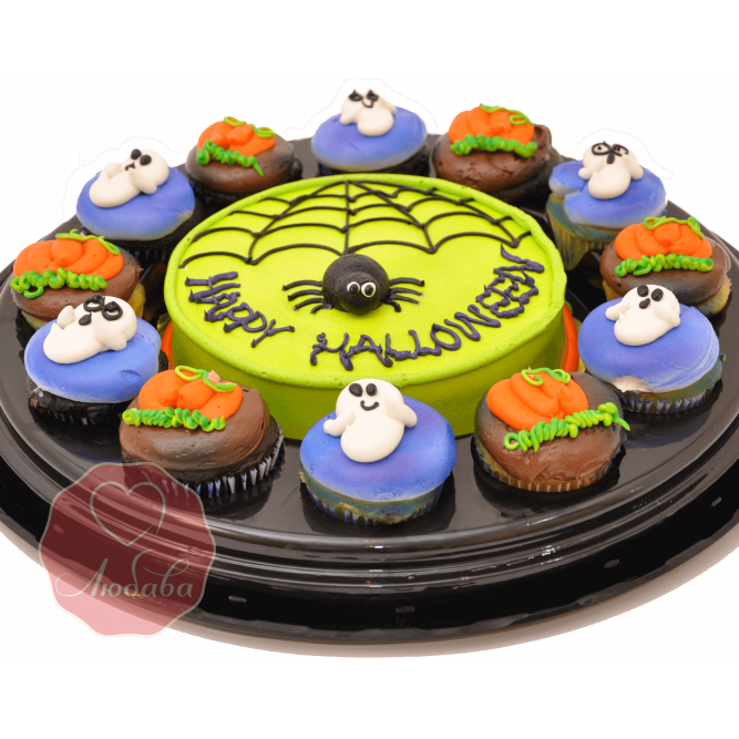 Торт с капкейками на хэллоуин №1185