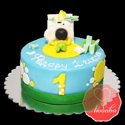 Торт для мальчика с малышом №1215