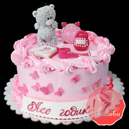 Торт на 1 годик с медведем №1221
