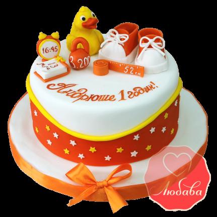 Торт на 1 годик с уткой №1222