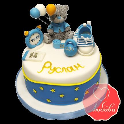 Торт на 1 годик с медведем №1236