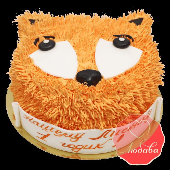 Торт на 1 годик с лисой №1237