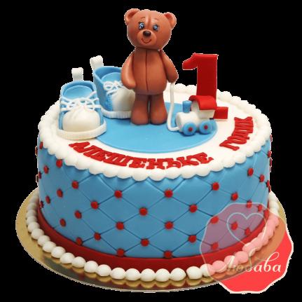 Торт на 1 годик с мишкой №1240