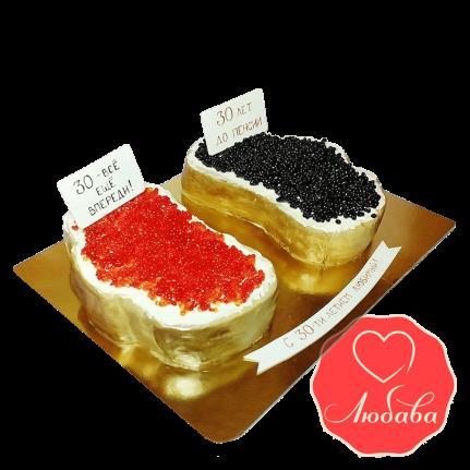 Торт на юбилей с икрой №1264