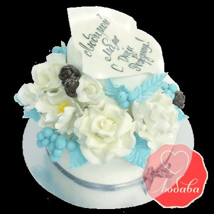 Торт цветы для мамы №1268