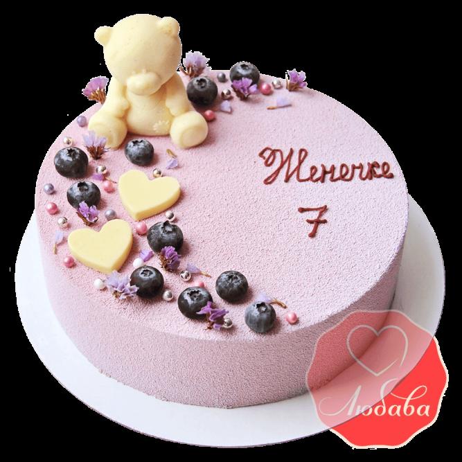 Торт велюровый с мишкой №1270
