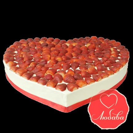 Торт с ягодами сердце №1275