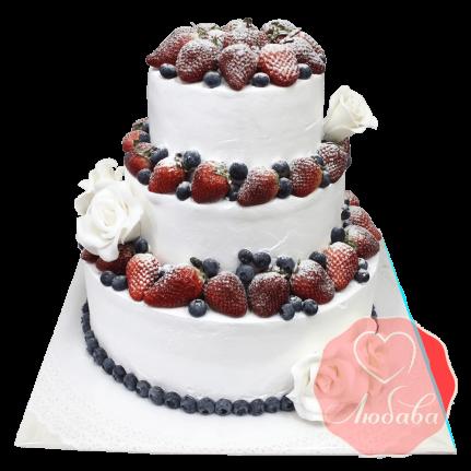 Свадебный Торт с ягодами №1277
