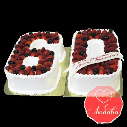 Торт с ягодами на юбилей №1279