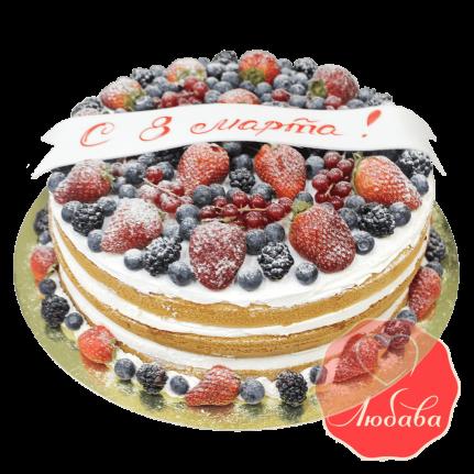 Торт с ягодами на 8 марта №1295
